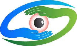 Eye logo. A  drawing represents eye logo design Royalty Free Stock Photos