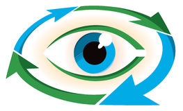 Eye Logo. An eye logo icon with an environmental color scheme Stock Photography