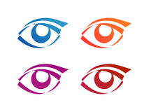 Eye logo conception Royalty Free Stock Images