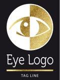 Eye logo in golden Stock Photo