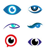 Eye logo  icon download Royalty Free Stock Photos