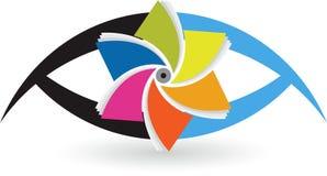 Eye logo. Illustration art of a eye logo with  background Royalty Free Stock Photo