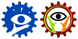 Eye logo set Stock Images