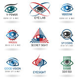 Eye logo set Royalty Free Stock Images
