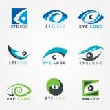 Eye logo sign vector set graphic design Stock Photography