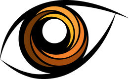 Eye logo. Vector illustration of eye logo Royalty Free Stock Photography