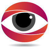 Eye logo. Vector illustration of eye logo Royalty Free Stock Image
