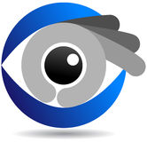 Eye logo. Vector illustration of eye logo Stock Photography