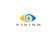 Eye Logo vision abstract Logo design vector  Royalty Free Stock Image