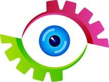 Eye logoen vektor illustrationer