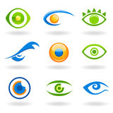 Eye logos vector Royalty Free Stock Image