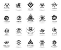 Eye logos vector set Stock Photo