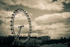 The Eye of London From A Bridge royalty free stock photos