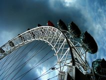 Eye of the London Wheel. London Eye Ferris Wheel in Europe Royalty Free Stock Photo