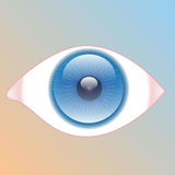 Eye-Look. Illustration of a blue eye on the colorful background Stock Photography