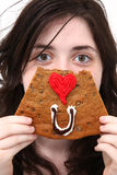 Eye Love You Cookie Royalty Free Stock Photos