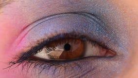 Eye macro loop stock footage