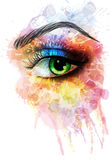 Eye made of colorful splashes Royalty Free Stock Images
