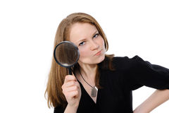 Eye and magnifying glass Royalty Free Stock Photos
