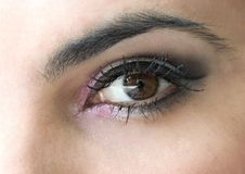 Eye with make-up Royalty Free Stock Photos
