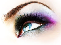 Eye Make-up. Beautiful Fashion Eye Make-up.Close-up image stock image