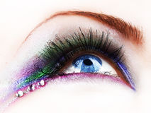 Eye Make-up. Beautiful Fashion Eye Make-up.Close-up image Stock Photo