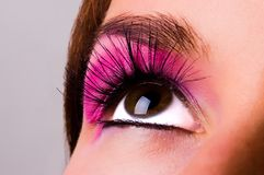 Eye with a make-up stock photos