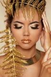 Eye Make up. Beautiful Make-up Closeup. Eyeshadow. Professional Stock Images
