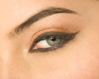 Eye with make-up Stock Images