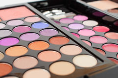 Eye make-up colorful pallete Royalty Free Stock Photography