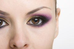 Eye makeup. With a beautiful eyebrow Royalty Free Stock Images