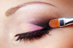 Eye makeup. Close up photo of fashion eye makeup Stock Photo