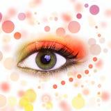 Eye makeup. Closeup of eye with creative makeup Royalty Free Stock Photos