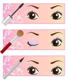 Eye makeup. This is an illustration of eye makeup Stock Images