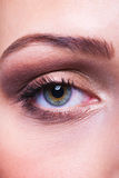 Eye makeup. Macro of a beautiful woman's eye with makeup Royalty Free Stock Photography
