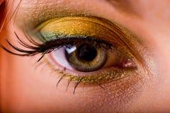 Eye makeup. With a beautiful eyebrow Stock Images