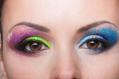 Eye makeup. With a beautiful eyebrow Royalty Free Stock Photography