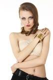 Eye Makeup. Beautiful Eyes Glitter Make-up. Royalty Free Stock Image