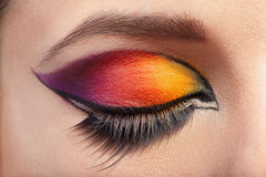 Eye Makeup. Beautiful Eyes Glitter Make-up Royalty Free Stock Photo