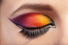 Eye Makeup. Beautiful Eyes Glitter Make-up Royalty Free Stock Photo
