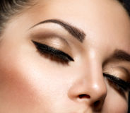 Eye Makeup. Beautiful Eyes Retro Style Make-up Royalty Free Stock Image