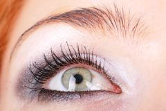 Eye with makeup close up Royalty Free Stock Photos