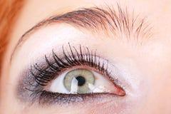 Eye with makeup close up Royalty Free Stock Photos
