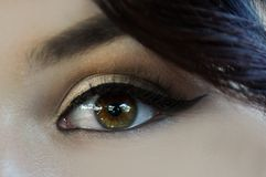 Eye with makeup stock photography