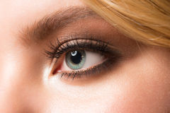 Eye makeup closeup Stock Photo
