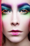 Eye Makeup. Holiday Makeup detail. False Lashes Stock Image