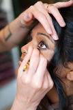 Eye Makeup - Indian Model Royalty Free Stock Photo