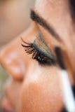 Eye Makeup - Indian Model Royalty Free Stock Photos