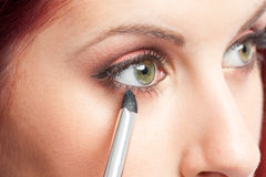 Eye  Makeup apply Royalty Free Stock Photo