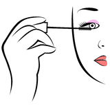 Eye makeup symbol. Royalty Free Stock Photo